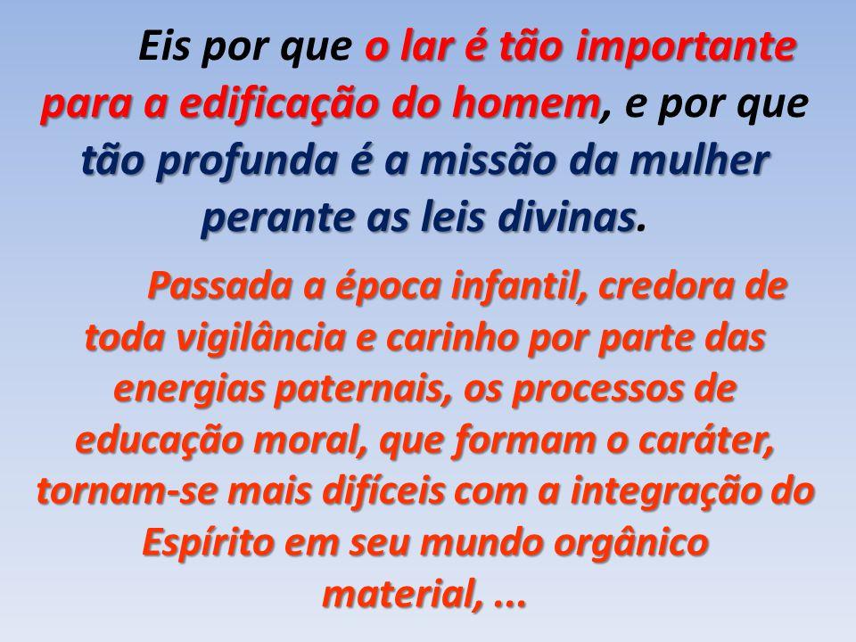 Eis por que o lar é tão importante para a edificação do homem, e por que tão profunda é a missão da mulher perante as leis divinas.