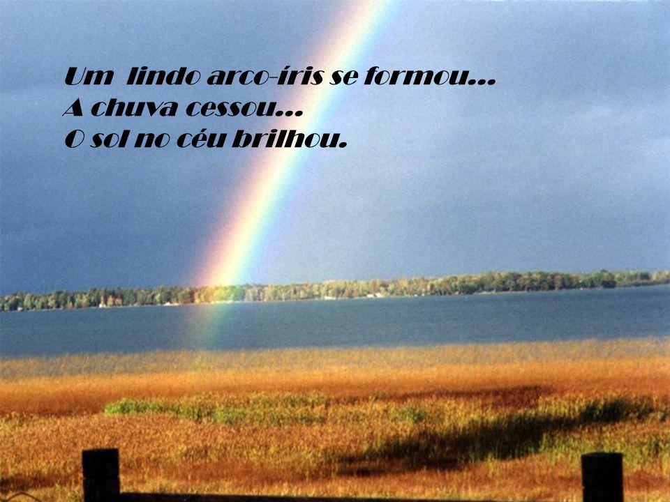 Um lindo arco-íris se formou...