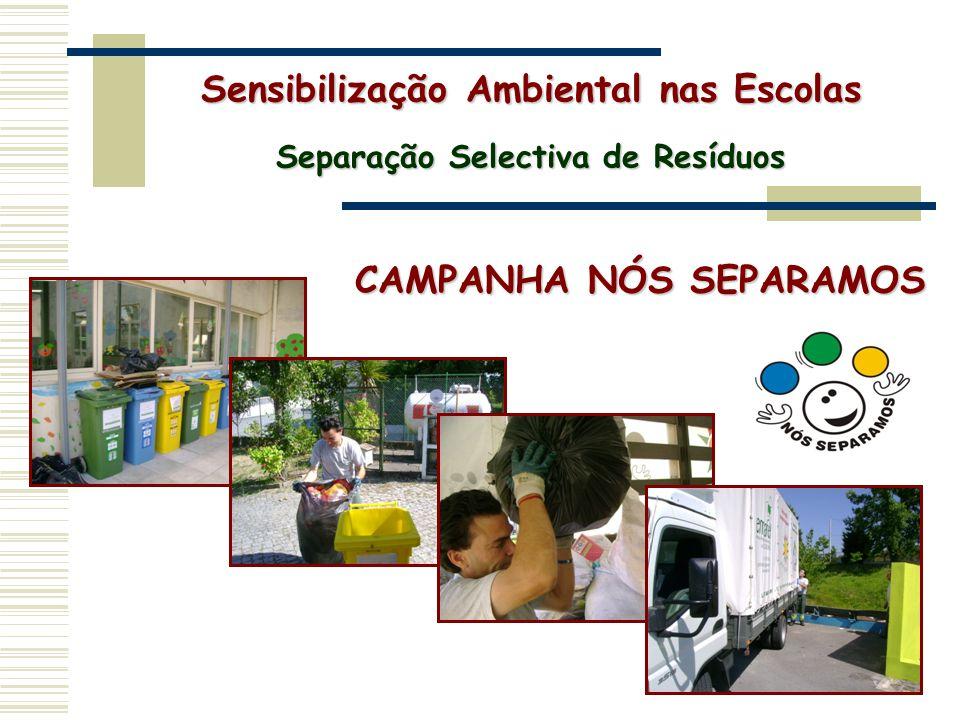 Sensibilização Ambiental nas Escolas Separação Selectiva de Resíduos