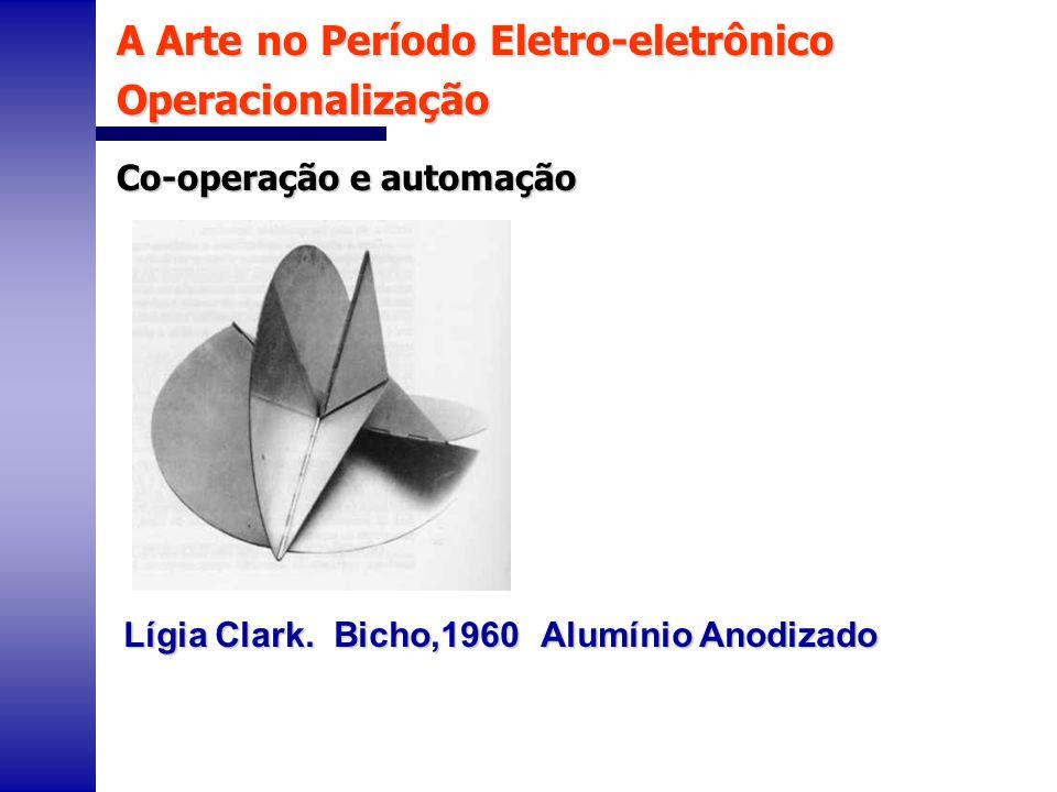 A Arte no Período Eletro-eletrônico Operacionalização