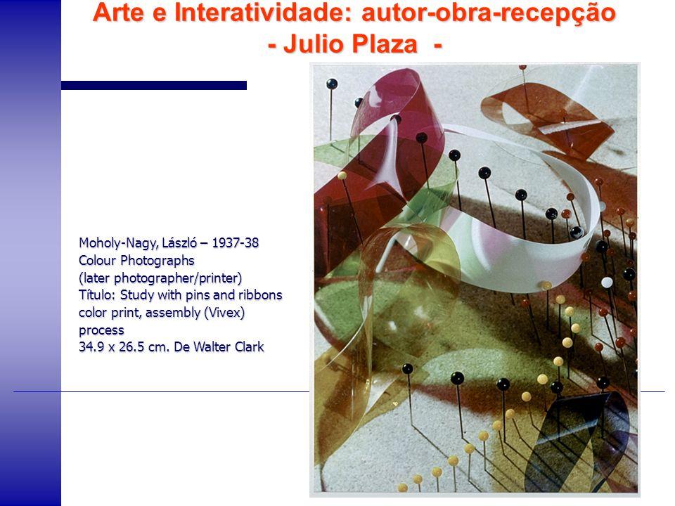 Arte e Interatividade: autor-obra-recepção - Julio Plaza -