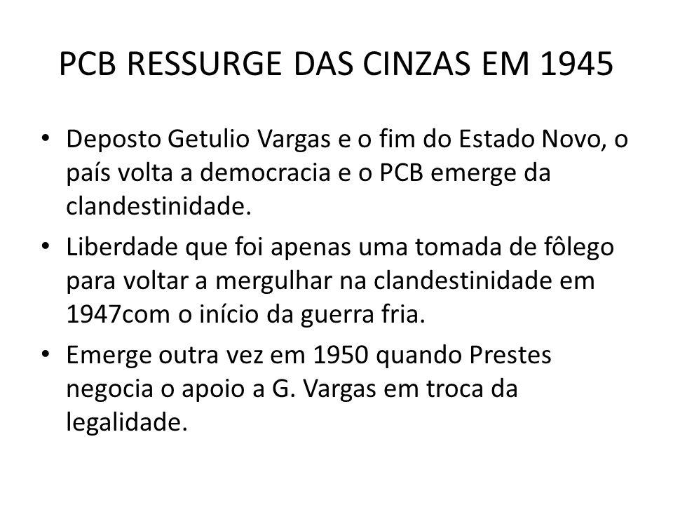 PCB RESSURGE DAS CINZAS EM 1945
