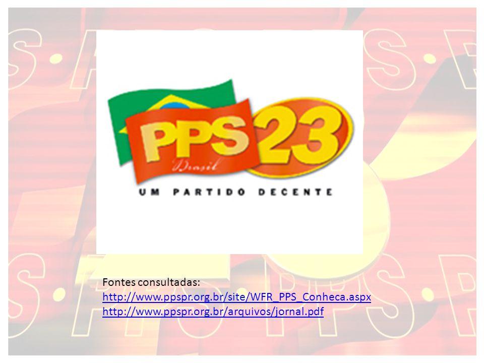 Fontes consultadas: http://www.ppspr.org.br/site/WFR_PPS_Conheca.aspx.