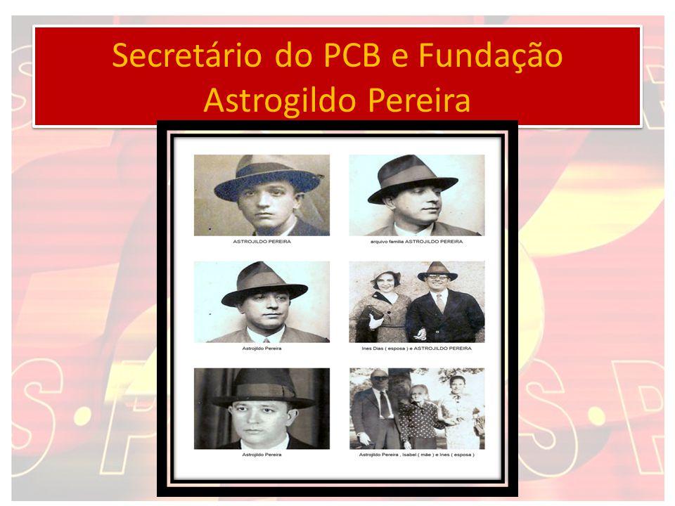 Secretário do PCB e Fundação Astrogildo Pereira