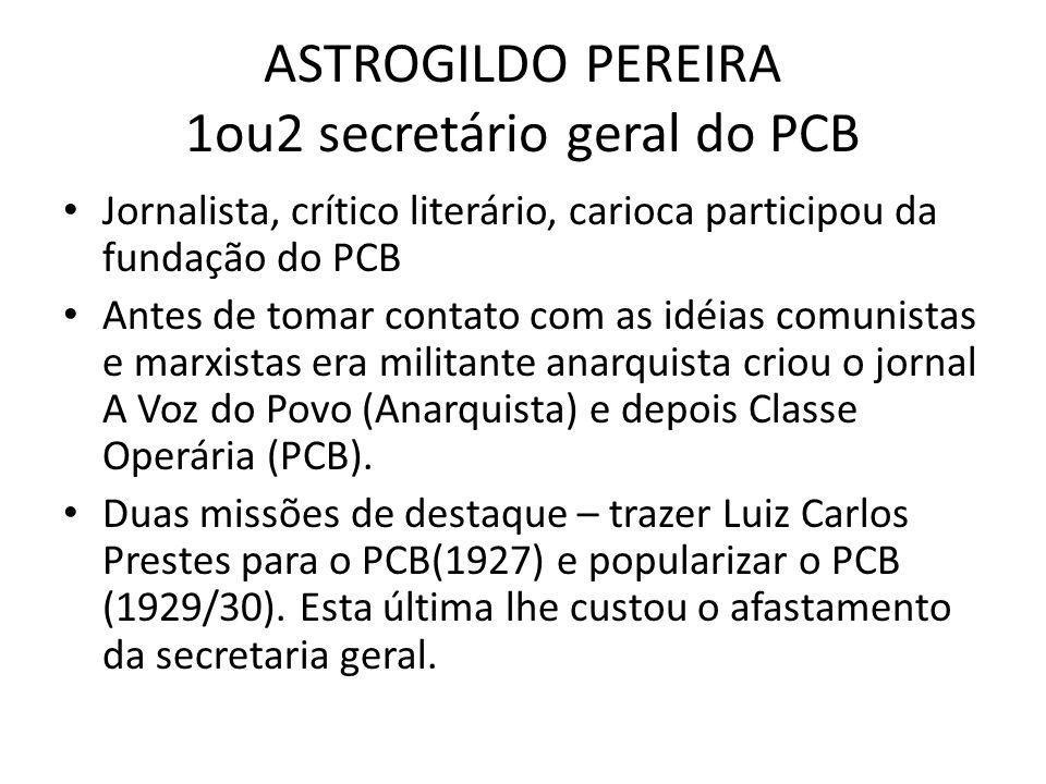 ASTROGILDO PEREIRA 1ou2 secretário geral do PCB