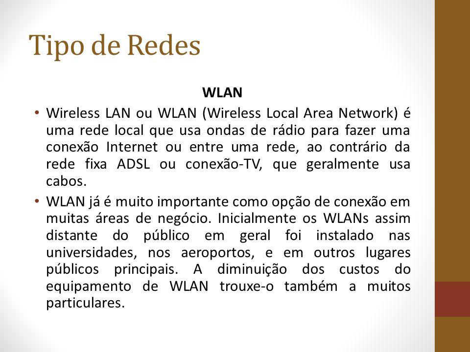 Tipo de Redes WLAN.