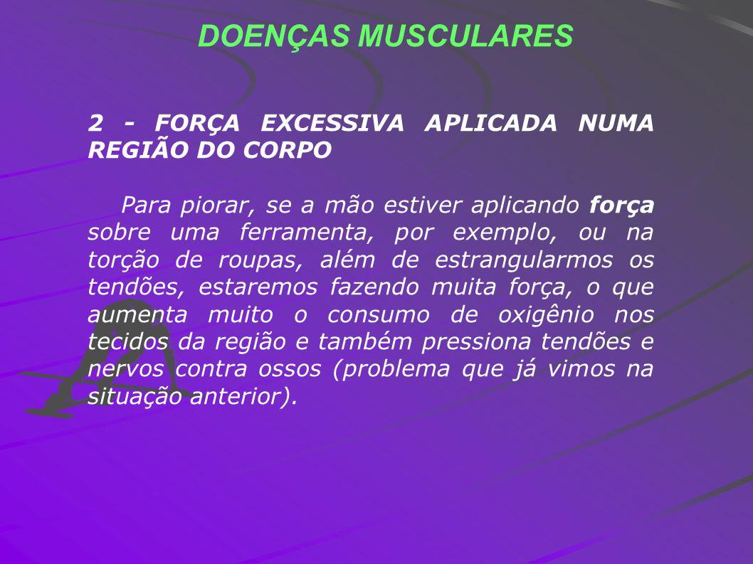 DOENÇAS MUSCULARES 2 - FORÇA EXCESSIVA APLICADA NUMA REGIÃO DO CORPO