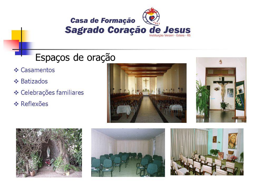 Espaços de oração Casamentos Batizados Celebrações familiares