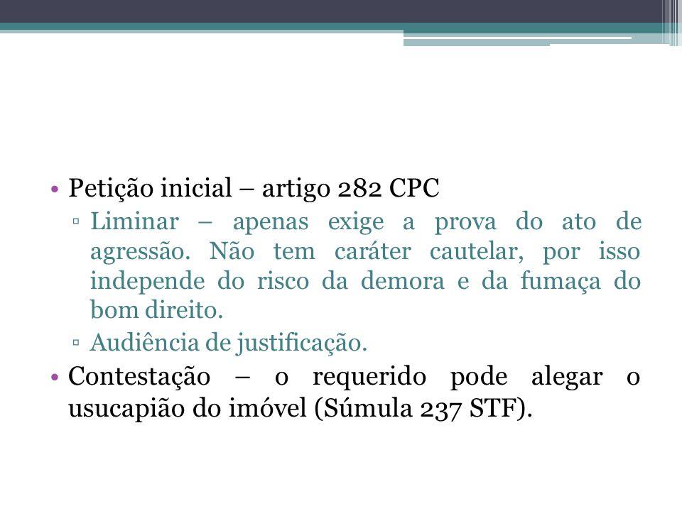Petição inicial – artigo 282 CPC
