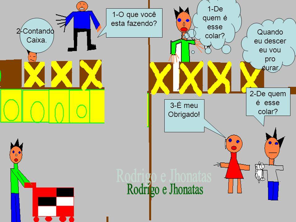 Rodrigo e Jhonatas 1-De quem é esse colar 1-O que você esta fazendo