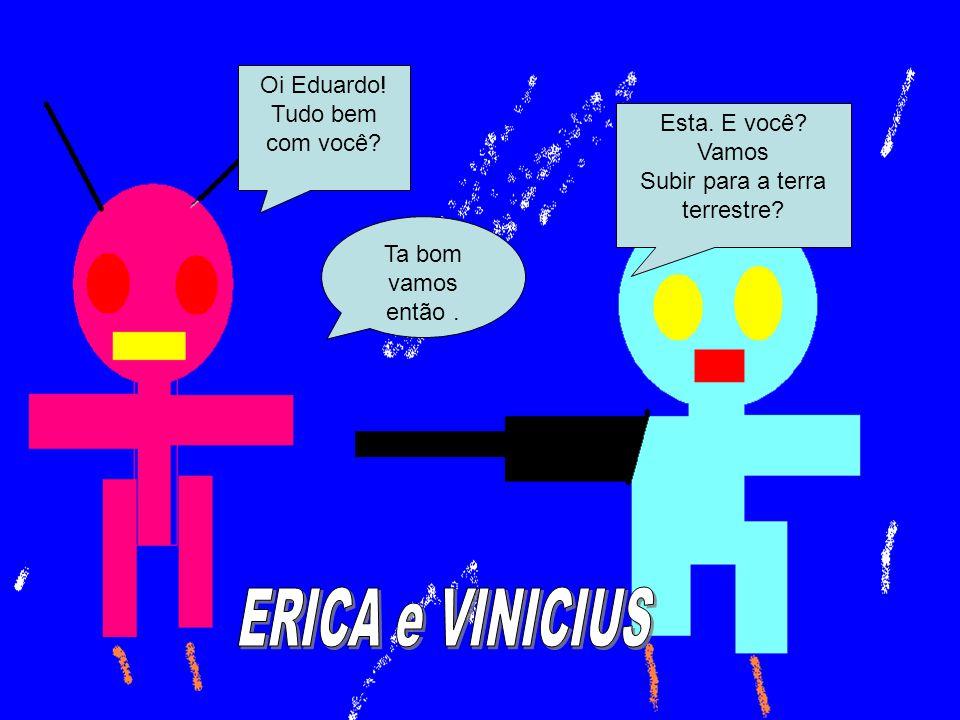 ERICA e VINICIUS Oi Eduardo! Tudo bem com você Esta. E você Vamos