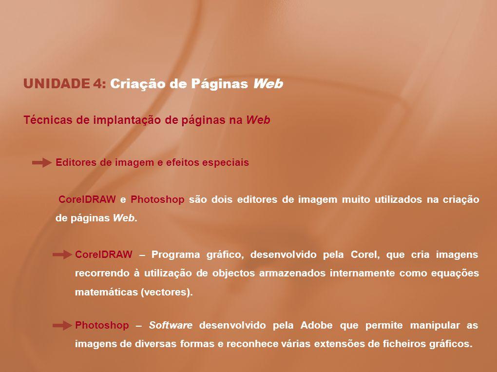 UNIDADE 4: Criação de Páginas Web