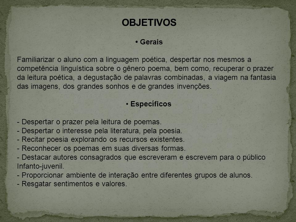 OBJETIVOS • Gerais.