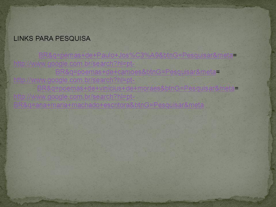 LINKS PARA PESQUISA