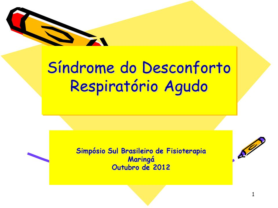 Síndrome do Desconforto Respiratório Agudo