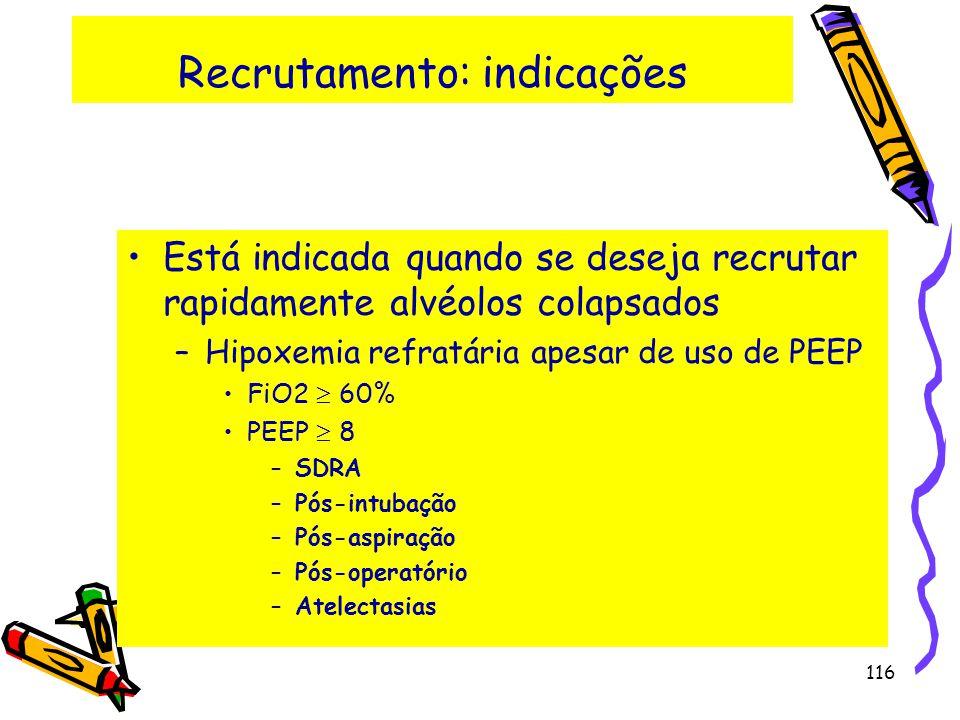 Recrutamento: indicações