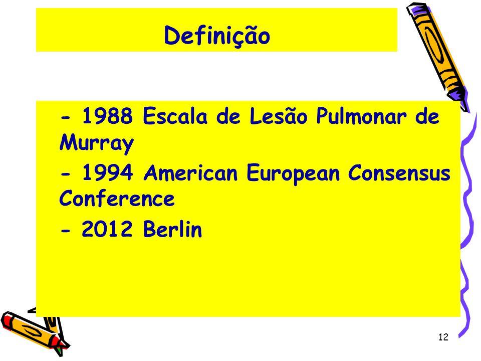 Definição - 1988 Escala de Lesão Pulmonar de Murray
