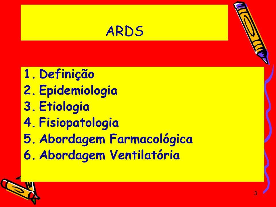 ARDS Definição Epidemiologia Etiologia Fisiopatologia