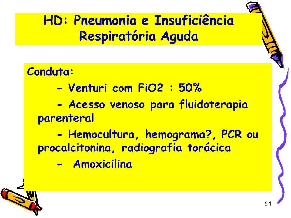 HD: Pneumonia e Insuficiência Respiratória Aguda