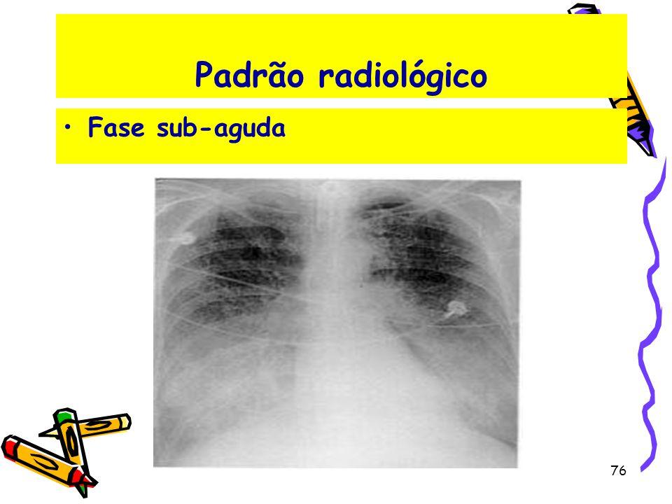 Padrão radiológico Fase sub-aguda