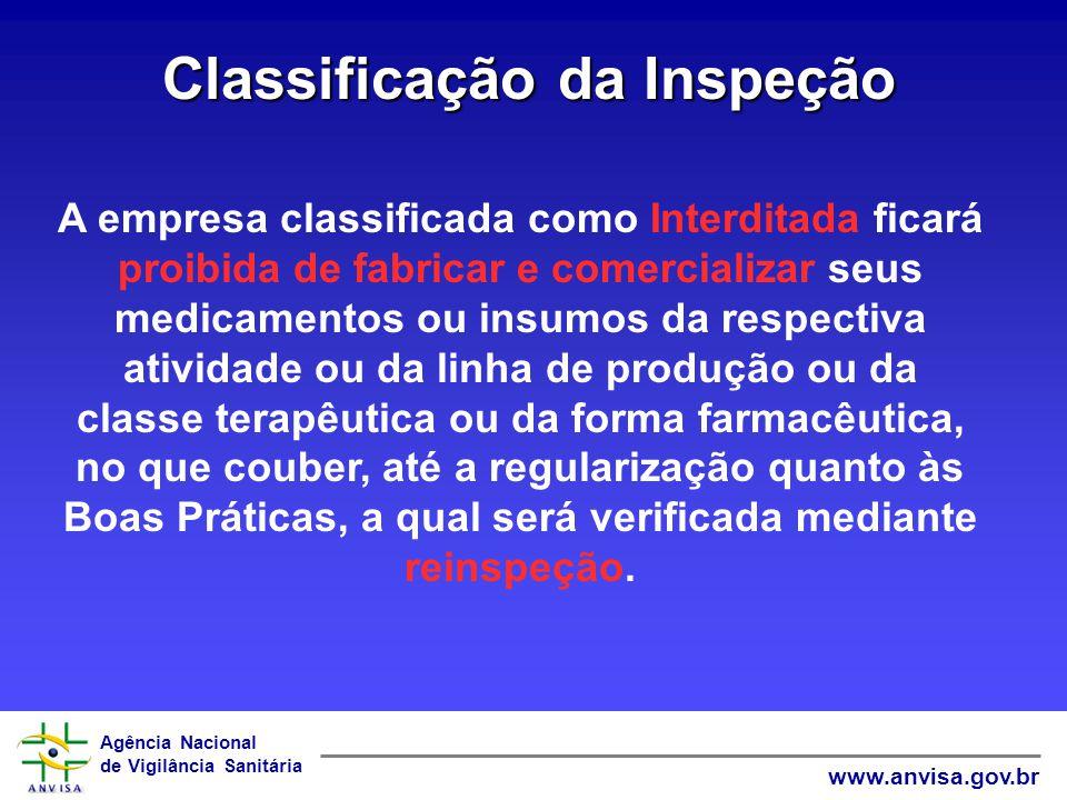 Classificação da Inspeção