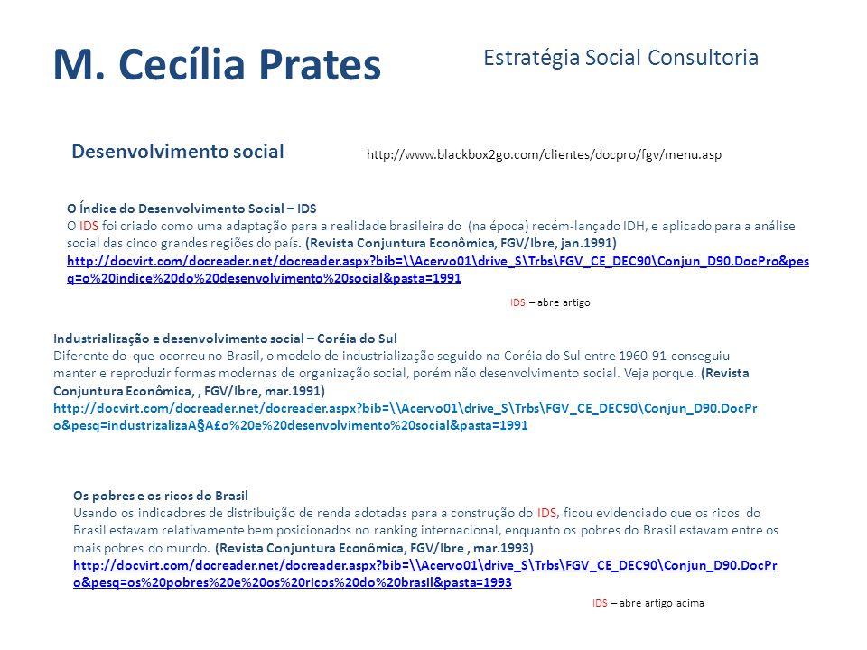 M. Cecília Prates Estratégia Social Consultoria Desenvolvimento social