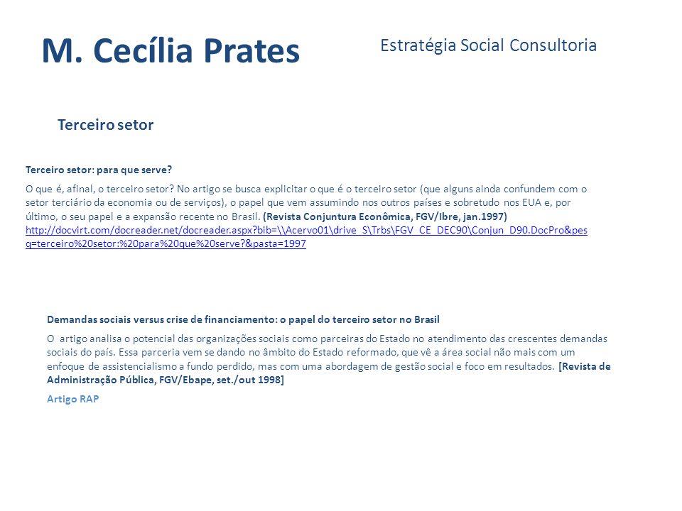 M. Cecília Prates Estratégia Social Consultoria Terceiro setor