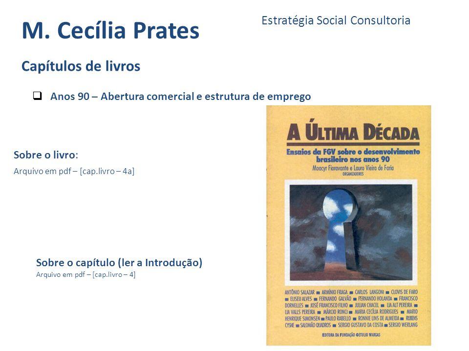 M. Cecília Prates Capítulos de livros Estratégia Social Consultoria
