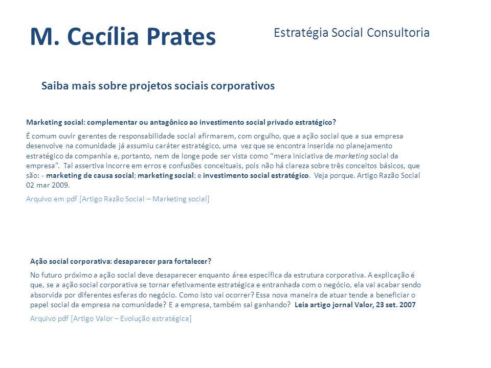 M. Cecília Prates Estratégia Social Consultoria