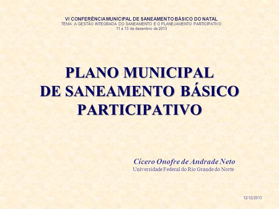 PLANO MUNICIPAL DE SANEAMENTO BÁSICO PARTICIPATIVO