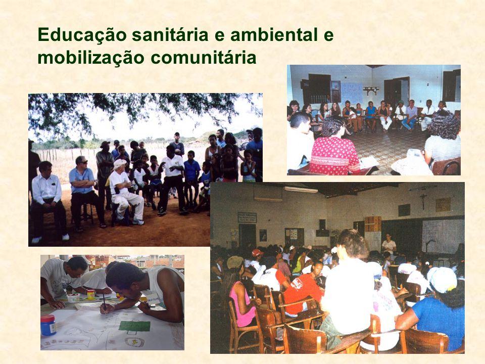 Educação sanitária e ambiental e mobilização comunitária