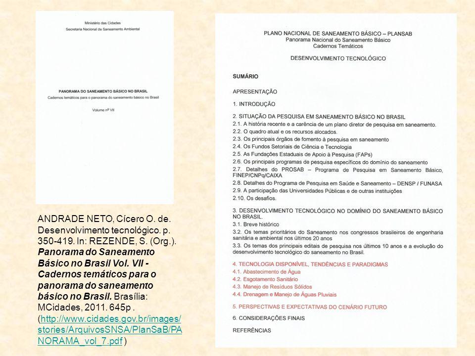 ANDRADE NETO, Cícero O. de. Desenvolvimento tecnológico. p. 350-419