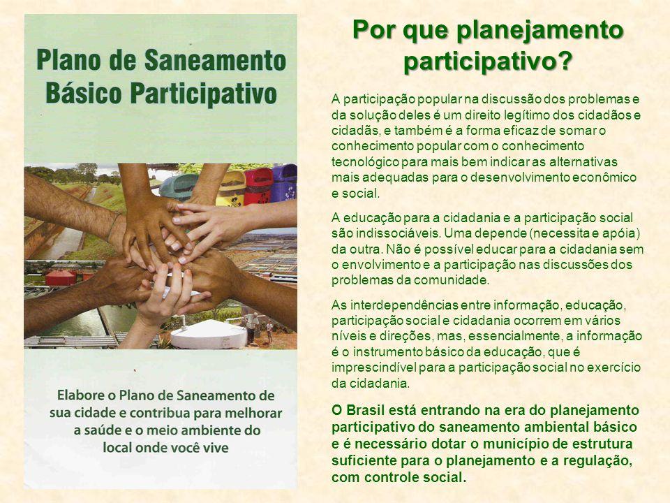 Por que planejamento participativo