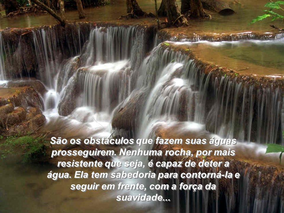 São os obstáculos que fazem suas águas prosseguirem