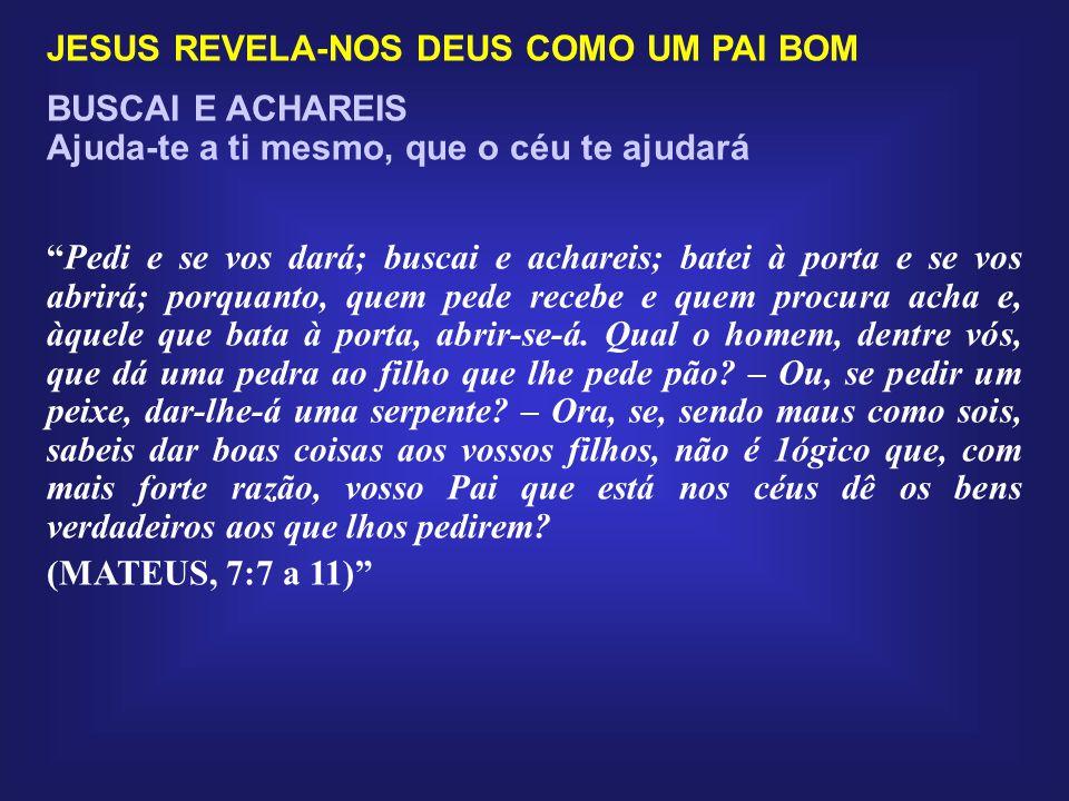 JESUS REVELA-NOS DEUS COMO UM PAI BOM