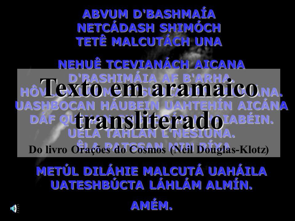 Texto em aramaico transliterado