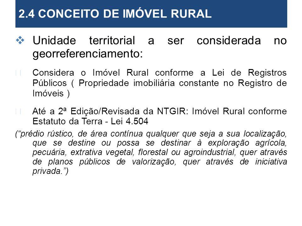 2.4 CONCEITO DE IMÓVEL RURAL 2. Objetivos