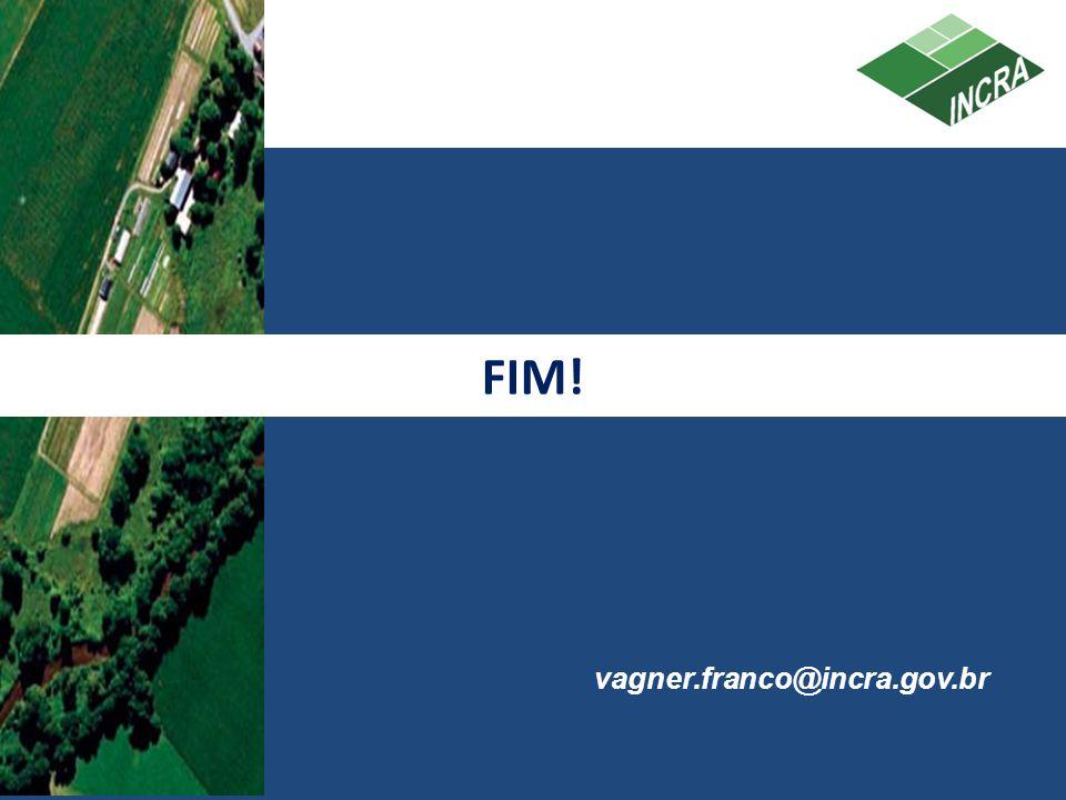 FIM! vagner.franco@incra.gov.br 31 31 31