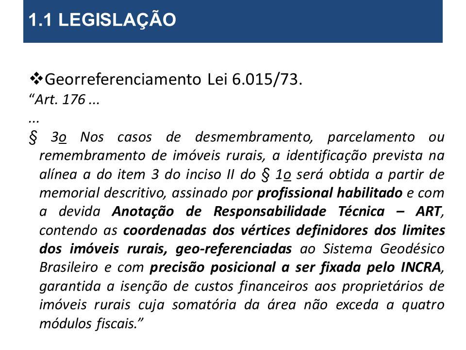 Georreferenciamento Lei 6.015/73.