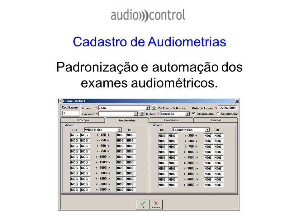 Cadastro de Audiometrias