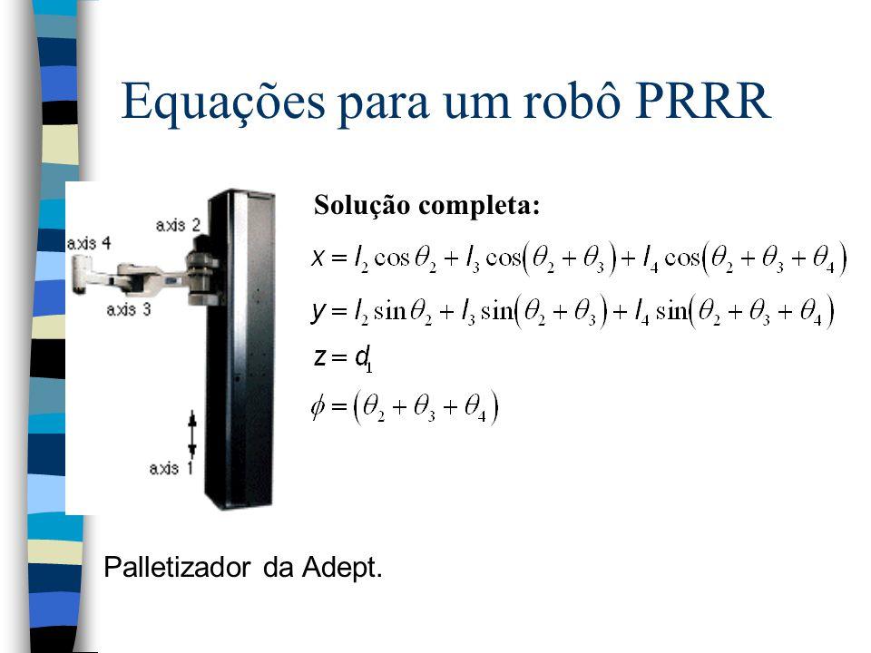 Equações para um robô PRRR