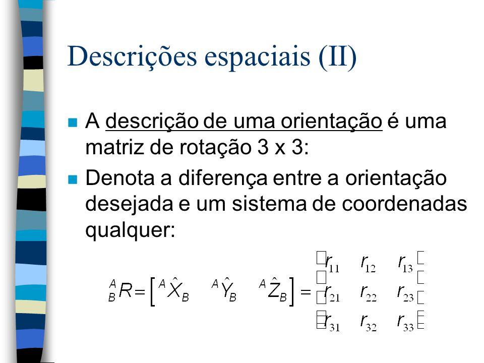 Descrições espaciais (II)