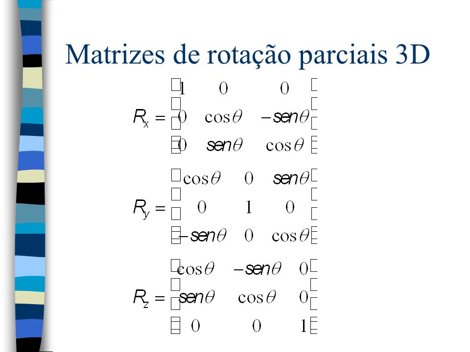 Matrizes de rotação parciais 3D
