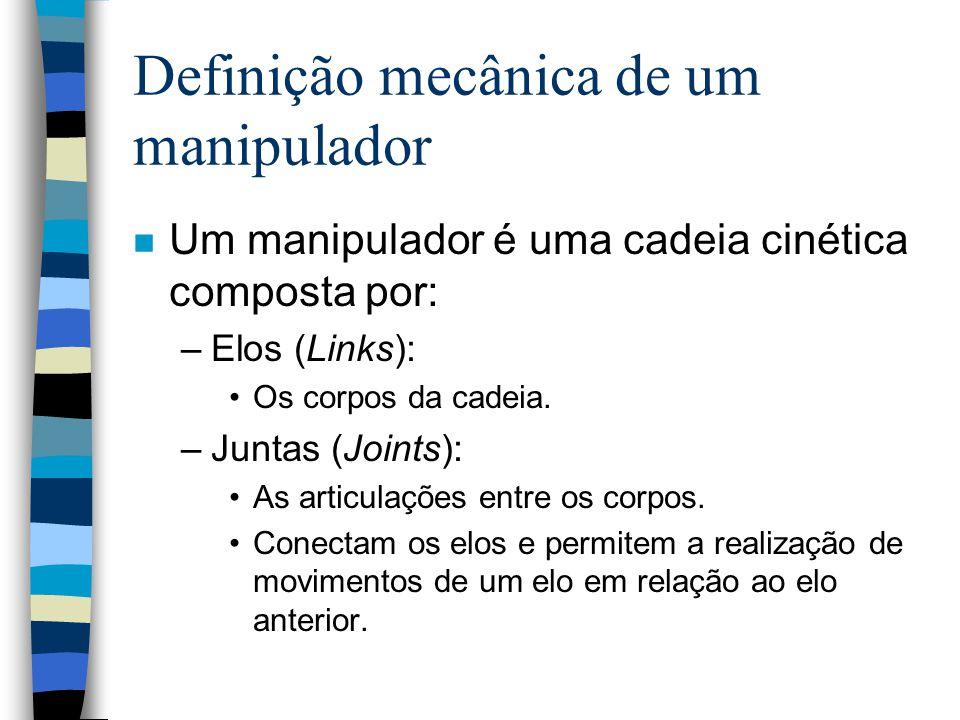 Definição mecânica de um manipulador