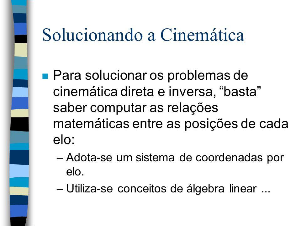 Solucionando a Cinemática