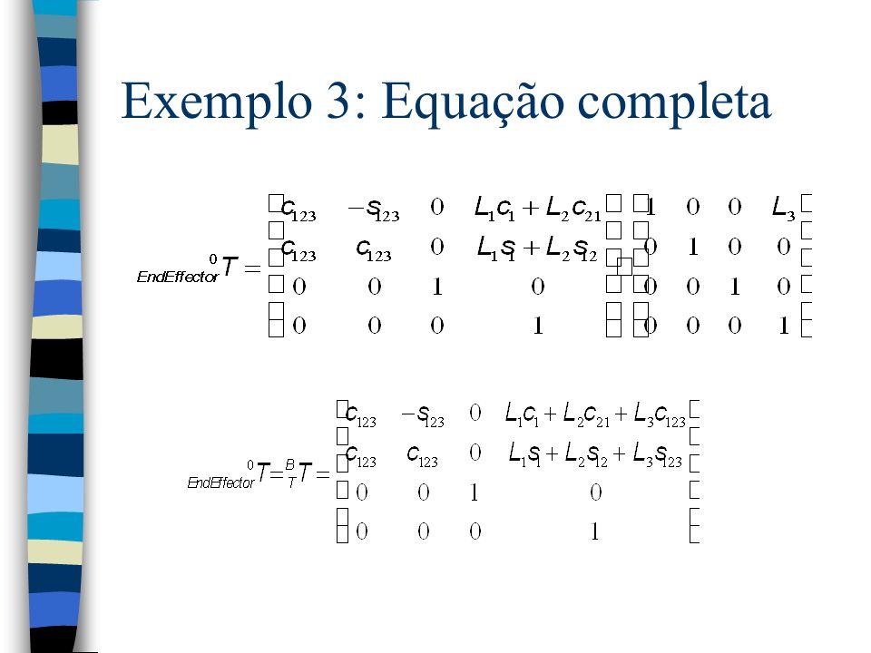 Exemplo 3: Equação completa