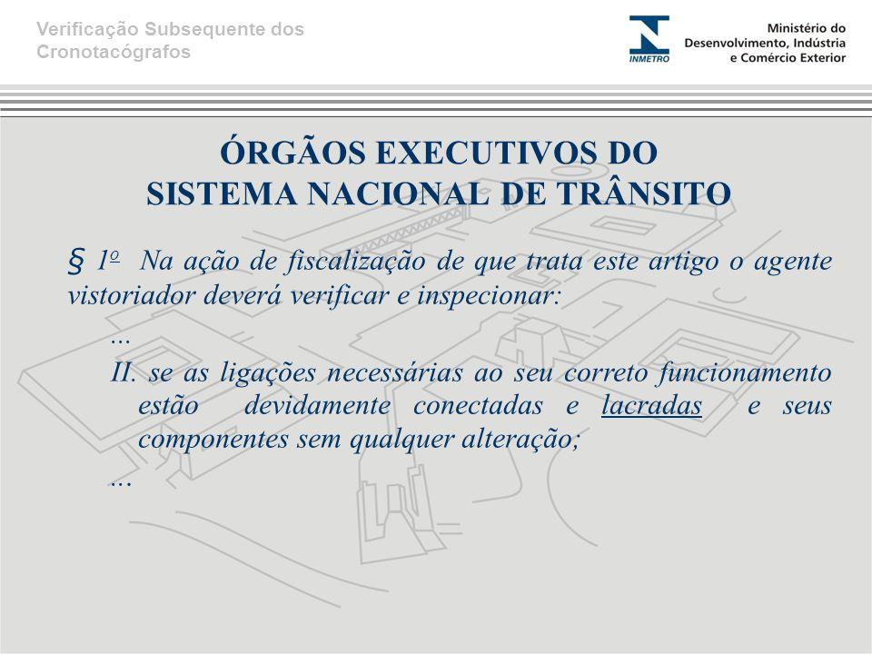ÓRGÃOS EXECUTIVOS DO SISTEMA NACIONAL DE TRÂNSITO