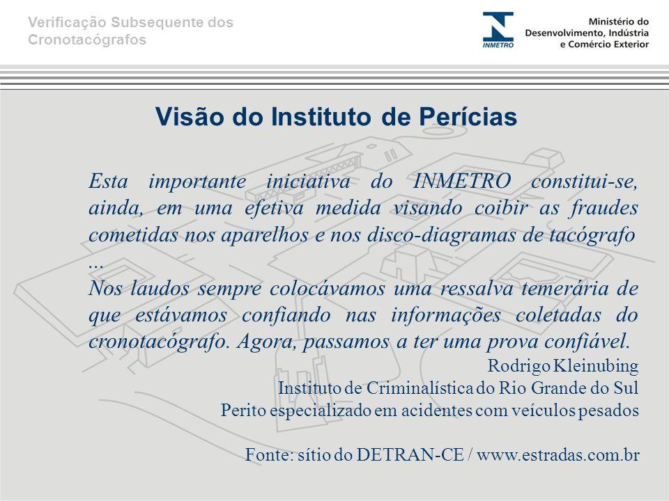 Visão do Instituto de Perícias