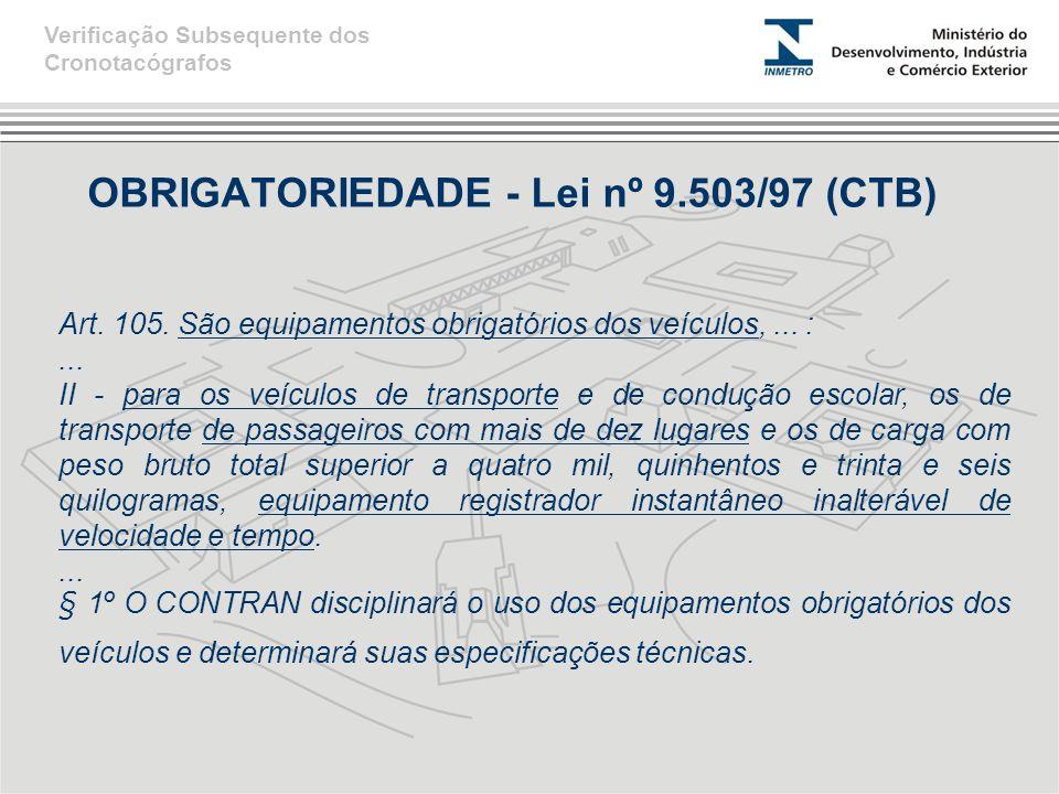 OBRIGATORIEDADE - Lei nº 9.503/97 (CTB)