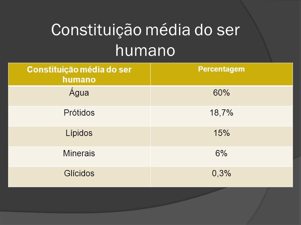 Constituição média do ser humano